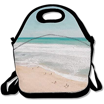 ae5987a7239f Amazon.com - Jubenlcai Seaside Holiday Personalized Insulated Lunch ...