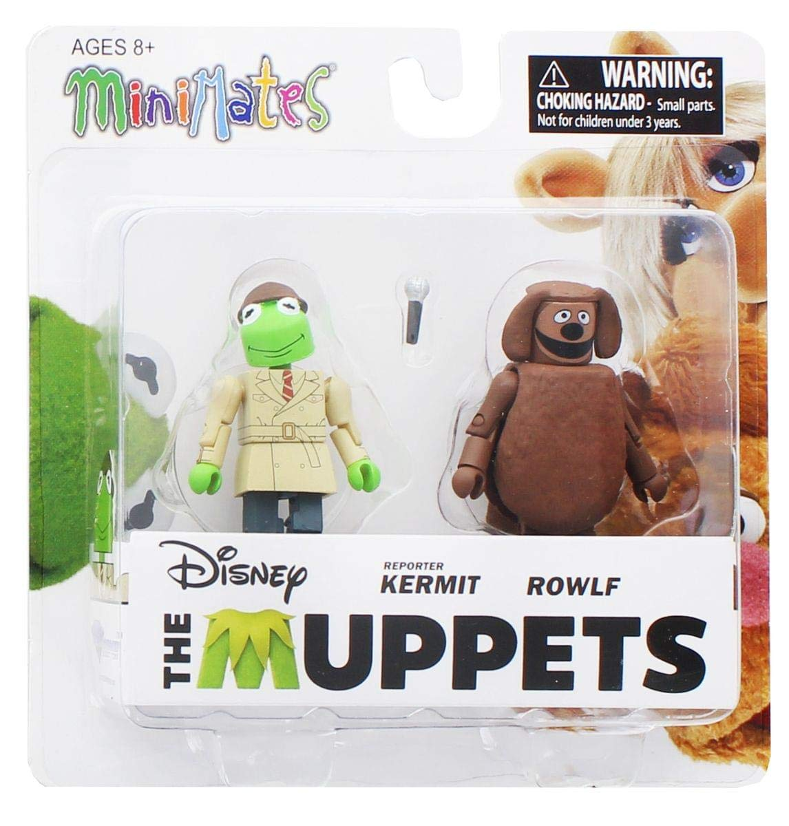 Muppets Minimates Series 2 Reporter Kermit & Rowlf Diamond ...