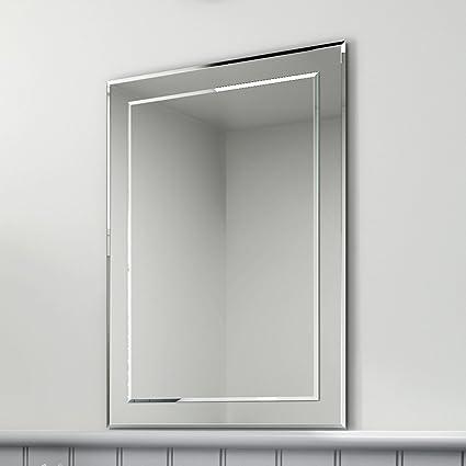 500 x 700 mm rectangular bevelled designer bathroom wall mirror rh amazon co uk