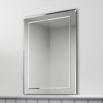 soak miroir mural biseaut rectangulaire de marque miroir salle de bains 50 x 70 cm - Miroir Mural Salle De Bain