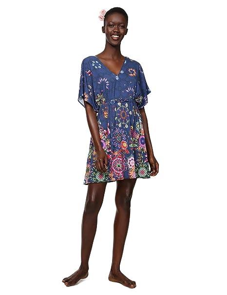 714735c74d9b Desigual Dress Swimwear Harvir Woman Blue Vestido para Mujer