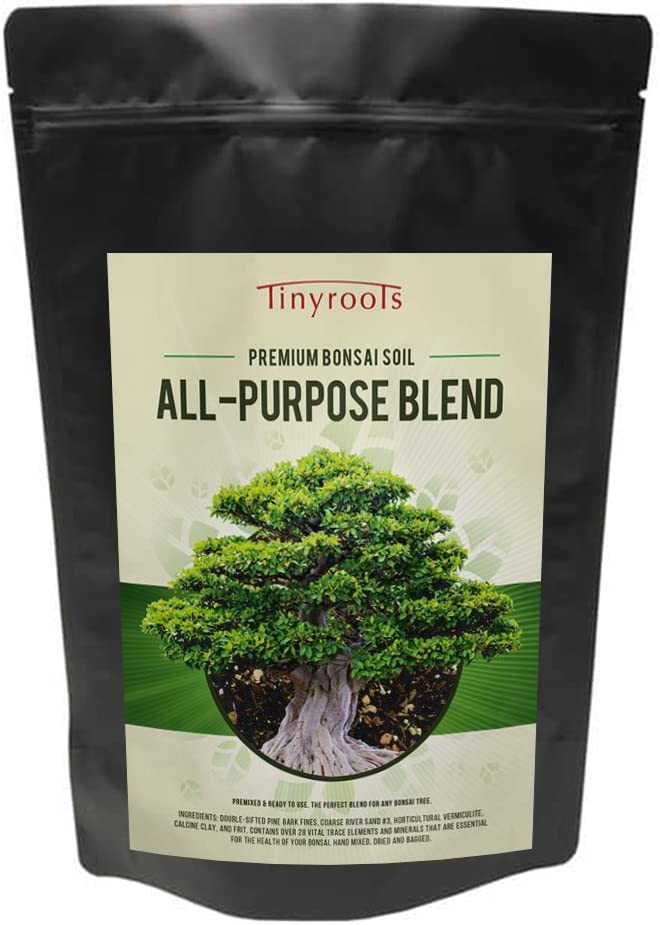 Tinyroots Bonsai Soil Premium Blend - All Purpose Pre Mixed Potting Soil, Used for All Varieties of Bonsai Trees, 2 Quarts