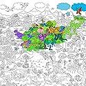 Fashionwu 115x80cm 子供用 スーパーペインター 巨大 絵画 ペーパー 塗り絵 ポスター おもちゃ PTO_037RIXY5