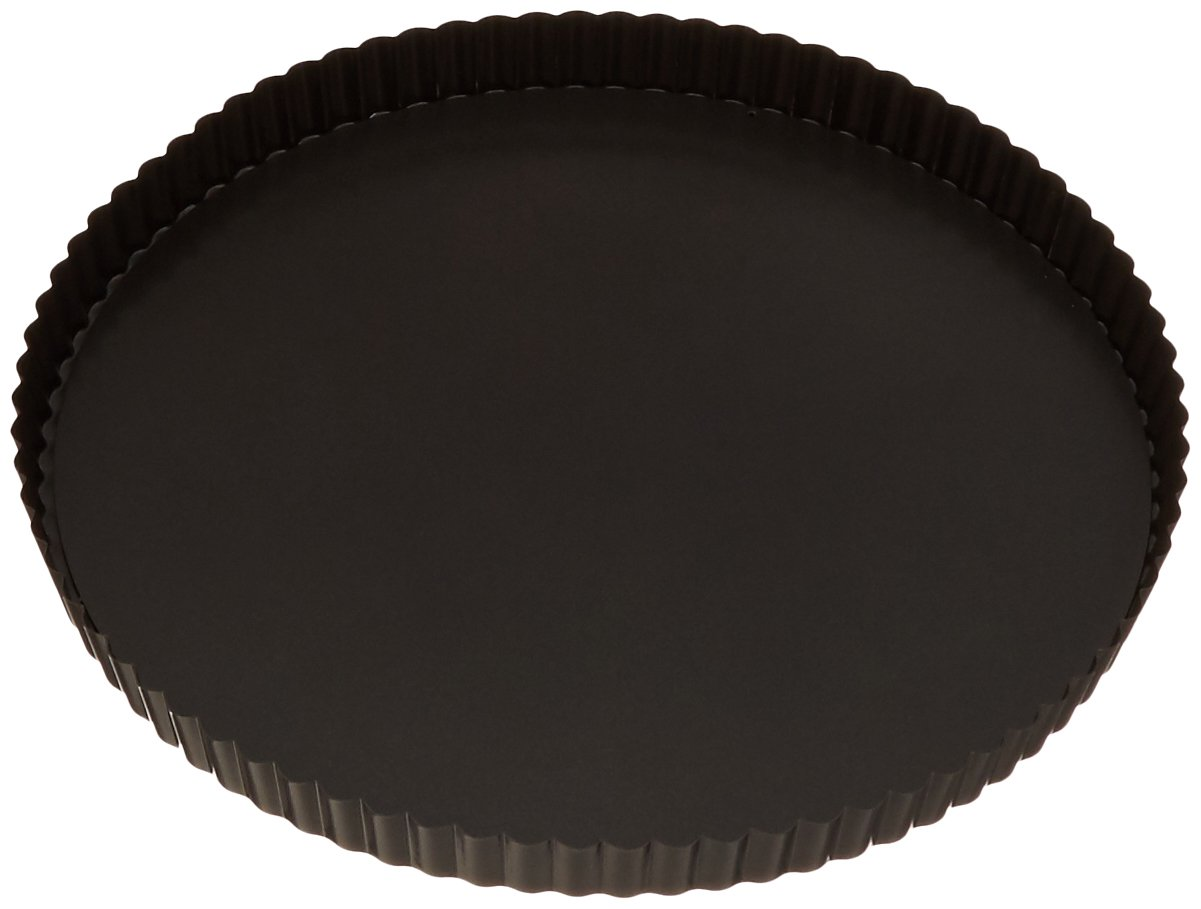 Paderno World Cuisine 12.5 Inch Fluted Non-Stick Tart Pan with Removable Bottom