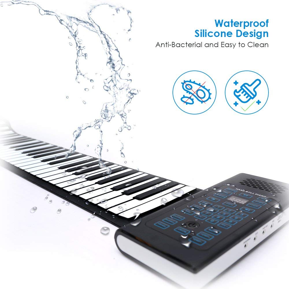 Roll Up Piano Folding Portable Keyboard   61Keys   Music Gifts for Women Men Girl Boys Kids   Educational Toys Gift Set   Digital Beginner Piano by Igloo Essentials (Image #7)