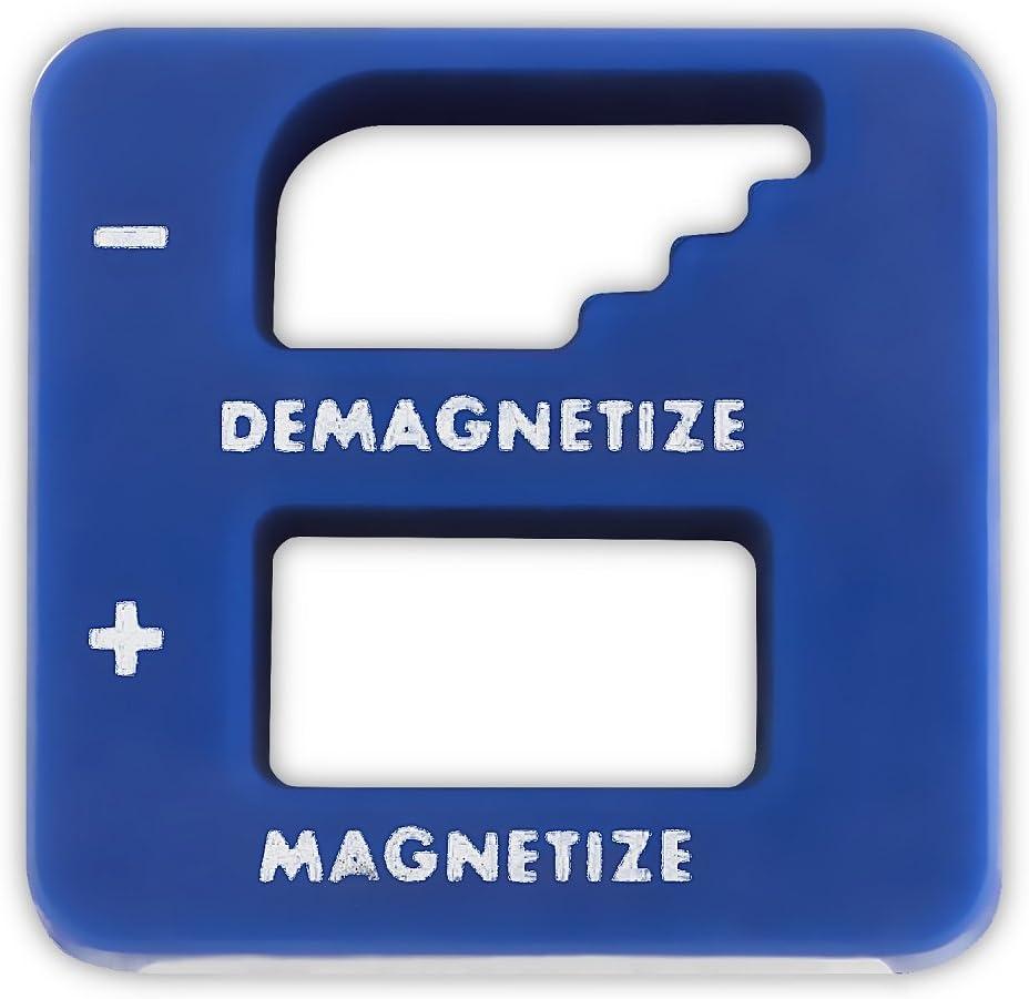 Blue Magnetizer Degausser Construction Tool for Screwdriver Drill Bit Sleeve Nut Bolt