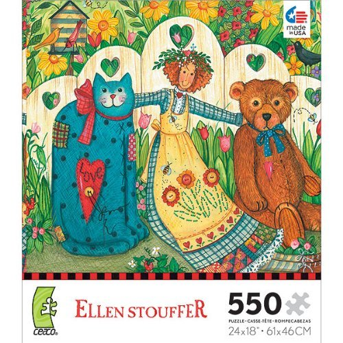 Ellen Stouffer  Girl and Friends  550 Piece Jigsaw Puzzle by Ceaco