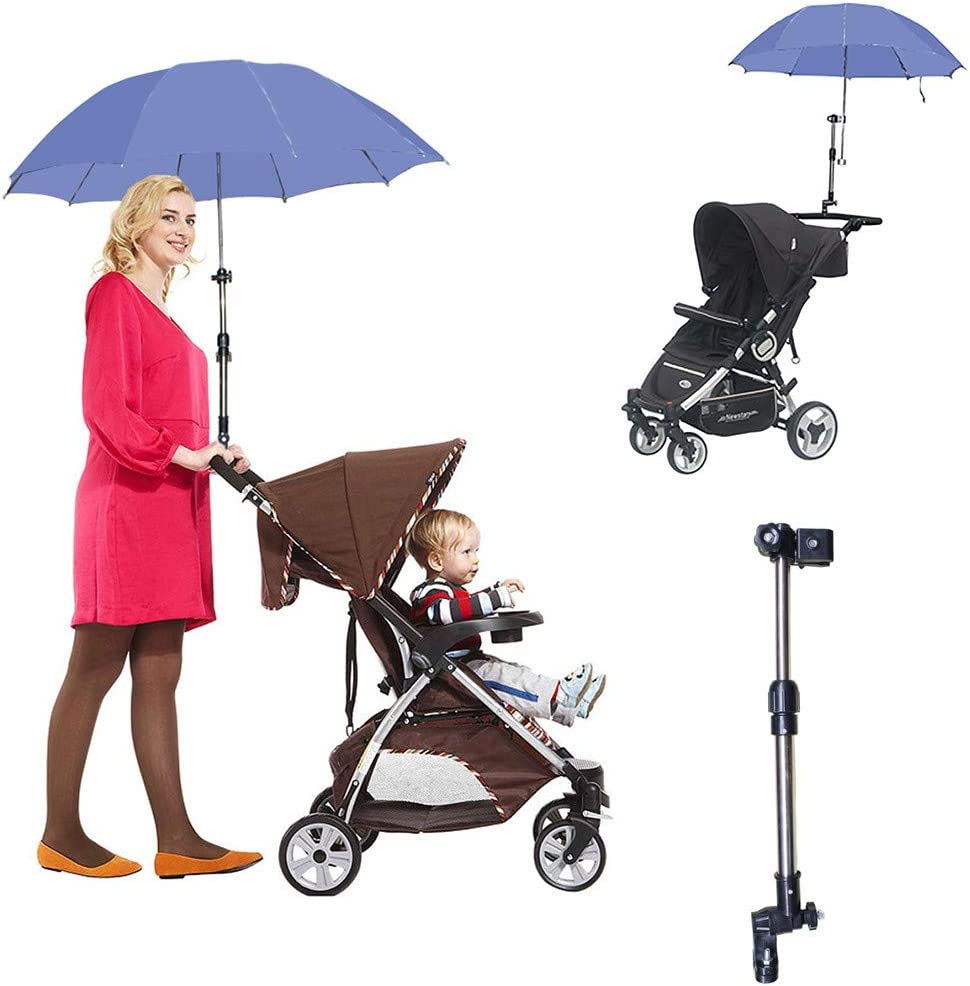 2 Size Umbrella Mount Stand Holder Connector Wheelchair Stroller Bicycle Bike UK