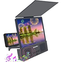 Screen Magnifier, Bluetooth Speaker 3D HD Mobile Video Phone Magnifier, Mobile Phone Projector, Mobile Phone for Android and All Smartphones, Universal Models.