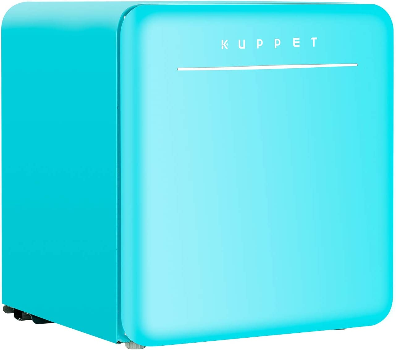 KUPPET Classic Retro Compact Refrigerator Single Door, Mini Fridge with Freezer, Small Drink Chiller for Home,Office,Dorm, Small beauty cosmetics Skin care mask refrigerated for home,1.6 Cu.Ft (Blue)