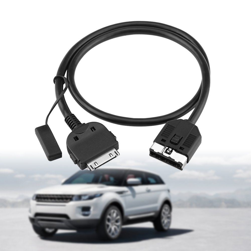 Qiilu 23.6 Car AUX Cable Adapter iPhone//iPod Audio Cable for Jaguar Land Rover Range Rover Sport 2010-2011