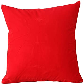 Dark Red Throw Pillows.Dark Red Solid Color Flocking Velvet 100 Polyester Throw Pillow Covers Pillowcase Sham Decor Cushion Slipcovers Square 19x19 Inch