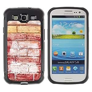 Suave TPU GEL Carcasa Funda Silicona Blando Estuche Caso de protección (para) Samsung Galaxy S3 III I9300 / CECELL Phone case / / Brick Wall Red Art Street Grafiti White /