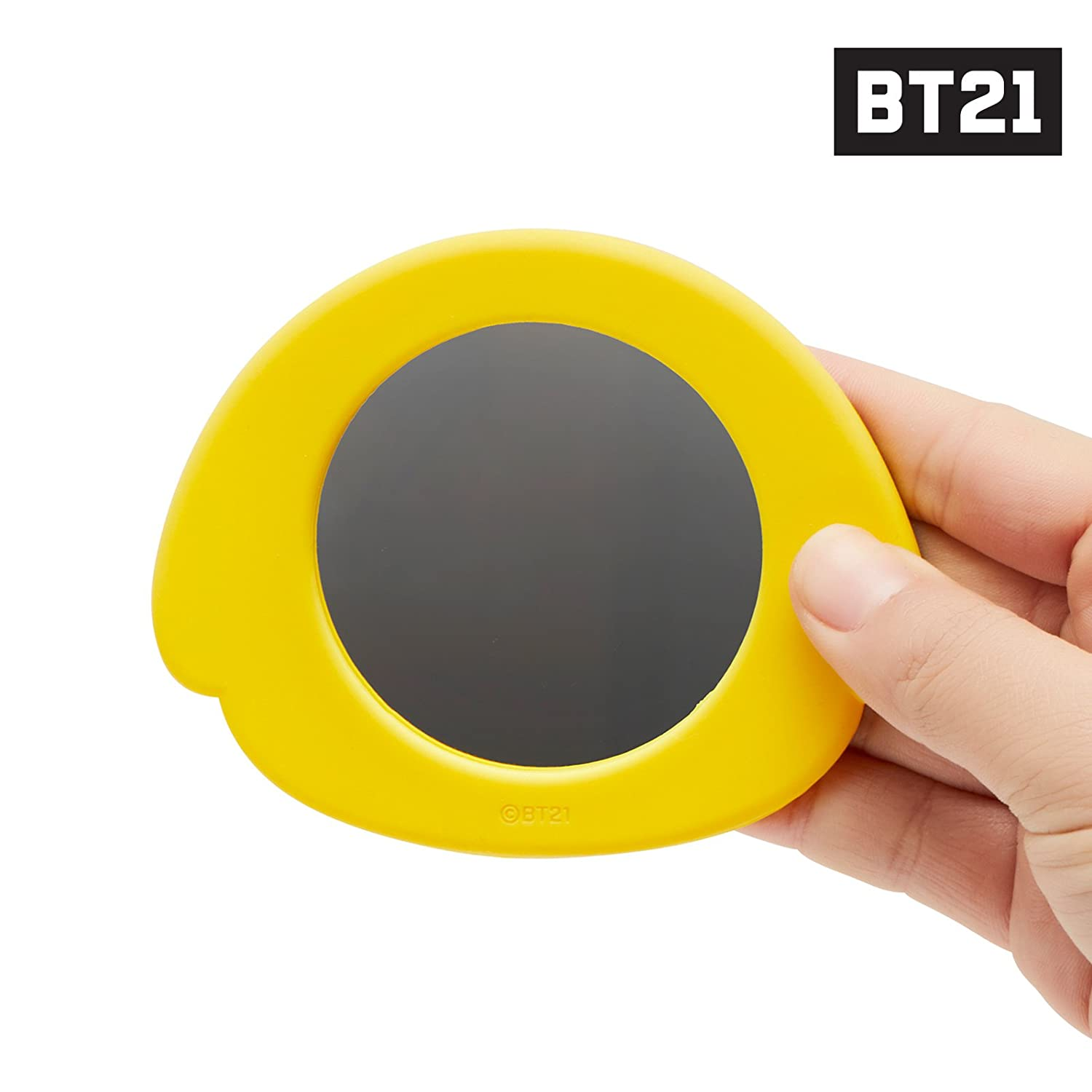 Blue BT21 Official Merchandise by Line Friends KOYA Character Silicon Hand Mirror