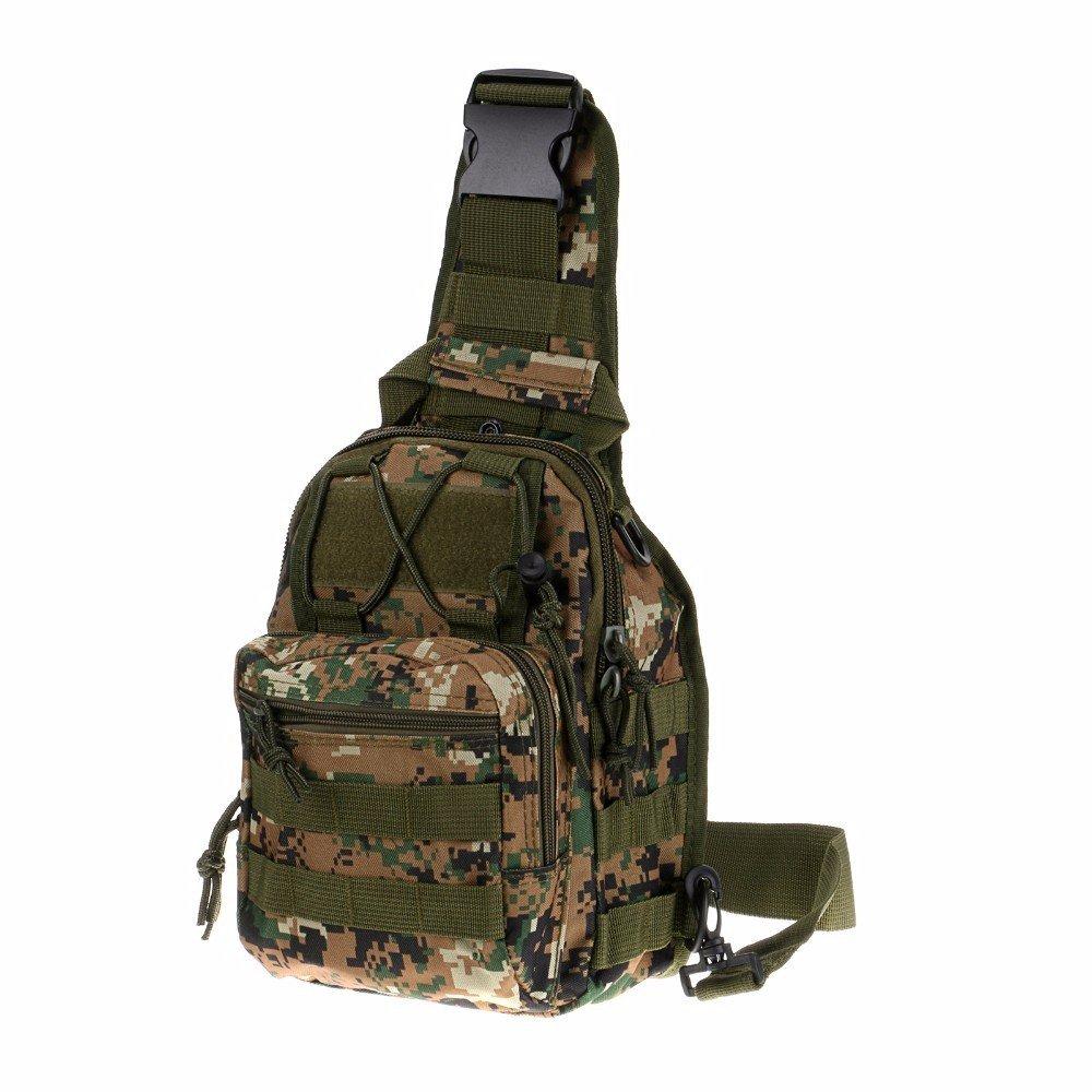 ユーティリティ3 WaysショルダースリングタクティカルMOLLEポーチバックパックMilitary Daypack 800d B07B2GW95J ウッドランド デジタル