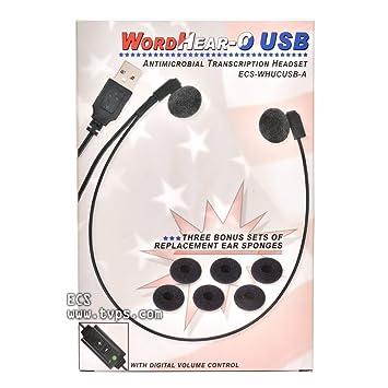 15bd9e63a20 ECS WordHear-O USB Transcription Headset - 1 Year: Amazon.co.uk ...