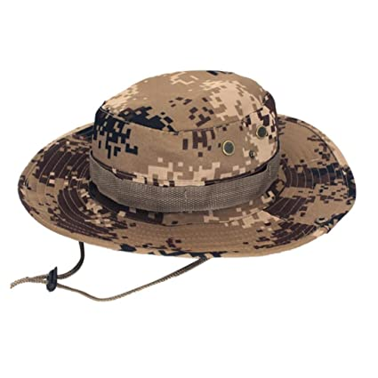 6813336def4 Tpingfe Adjustable Cap Camouflage Boonie Hats Nepalese Cap Army Mens  Fisherman Hat (H)