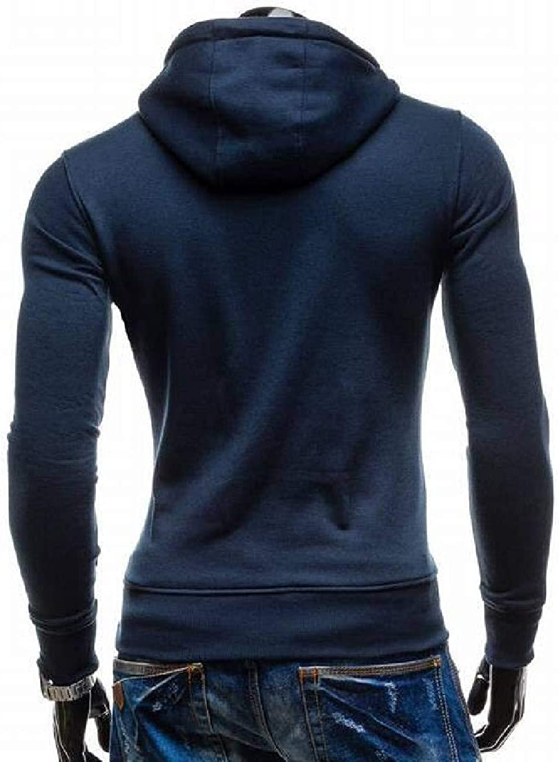 Abeaicoc Mens Soild Long Sleeve Pockets Drawstring Pullover Slim Fit Hoodie Sweatshirt