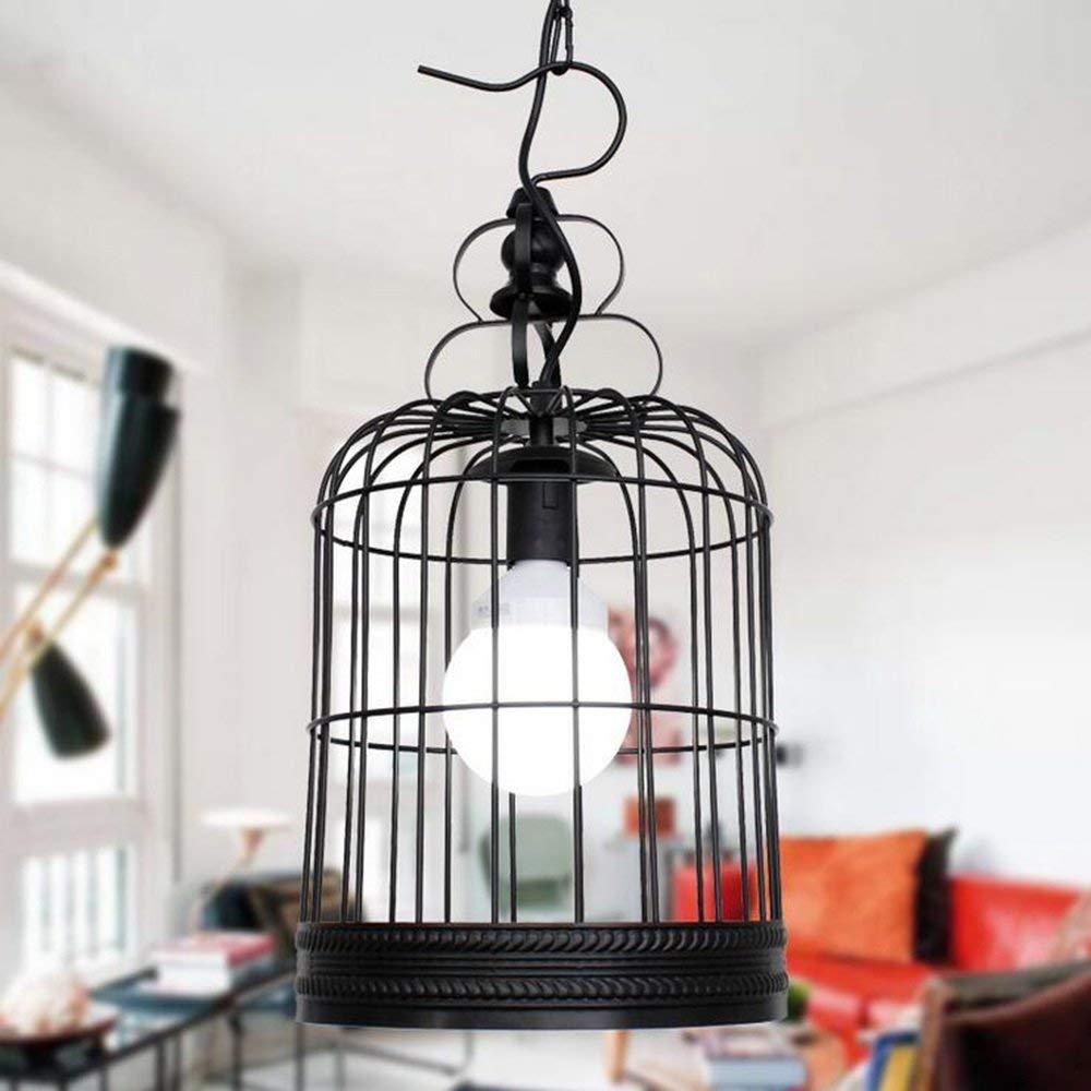 American Retro Schmiedeeisen Kronleuchter Kreative Persönlichkeit Vogelkäfig Kronleuchter für Cafe Bar Balkon Loft Studio Treppe Gang Restaurant Schlafzimmer Höhle Wohnzimmer, E27 (Farbe   S)