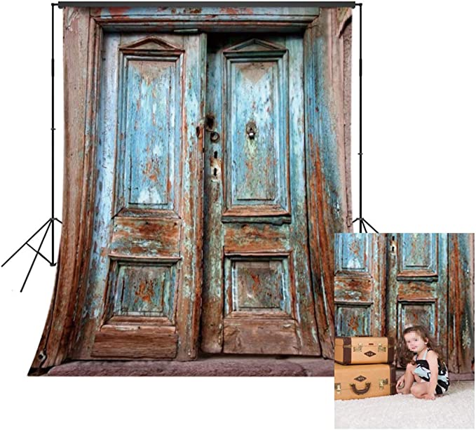 YongFoto 12x8ft Abandoned Barn Vintage Wooden Door Photography Background Rustic House Woods Wall Entrance Wood Gate Photo Backdrop Birthday Party Decor Banner Photobooth Retro Artistic Photo Props