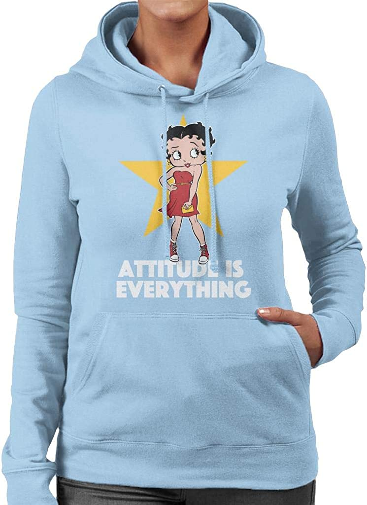 Betty Boop Attitude is Everything Womens Hooded Sweatshirt