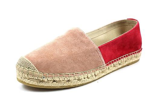 VIDORRETA Alpargatas Para Mujer, Color Rojo, Talla 37 EU: Amazon.es: Zapatos y complementos