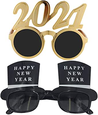 SOIMISS 2021 Gold Eyeglasses Happy New Year Glasses New ...