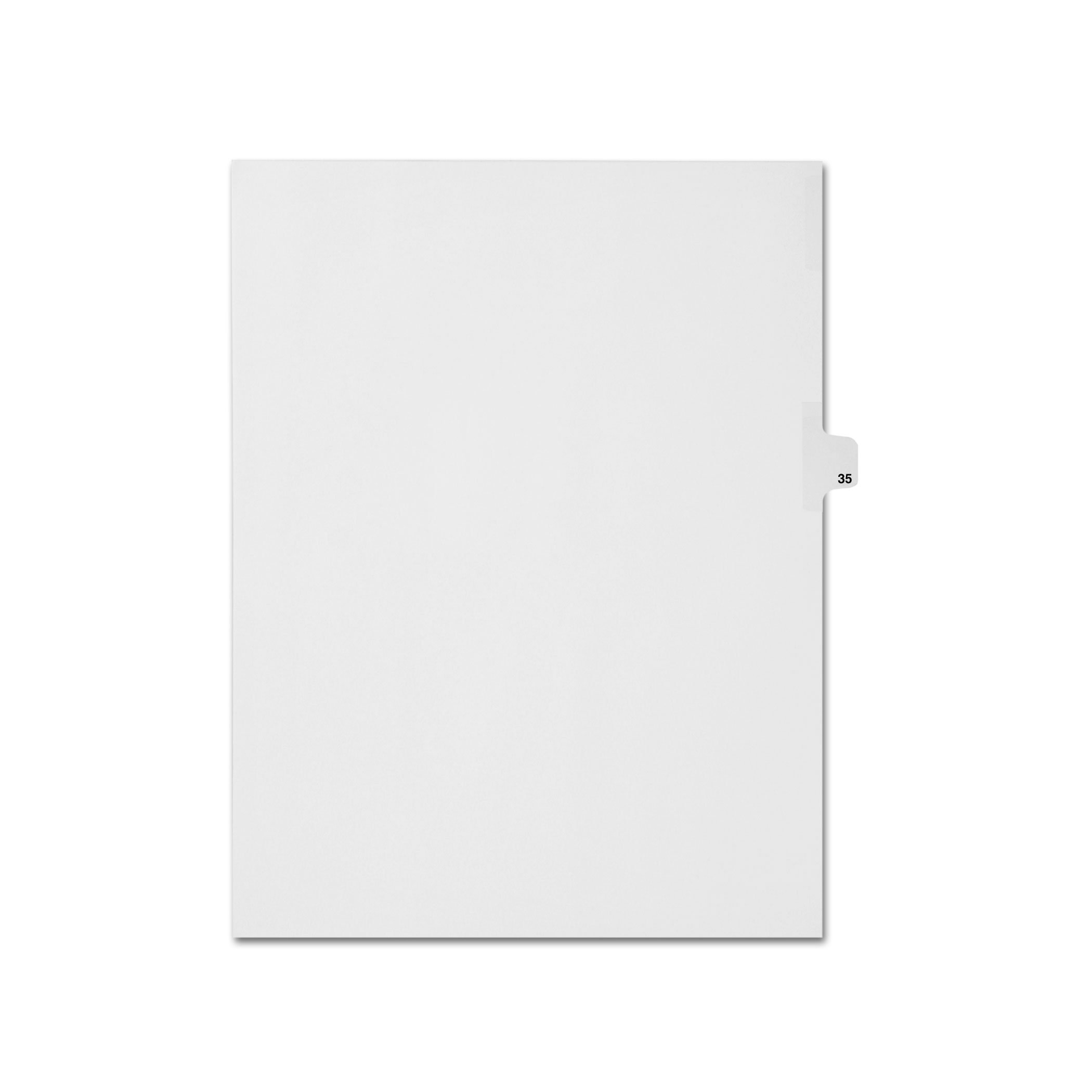 AMZfiling Individual Legal Index Tab Dividers, Compatible with Avery- Number 35, Letter Size, White, Side Tabs, Position 10 (25 Sheets/pkg)