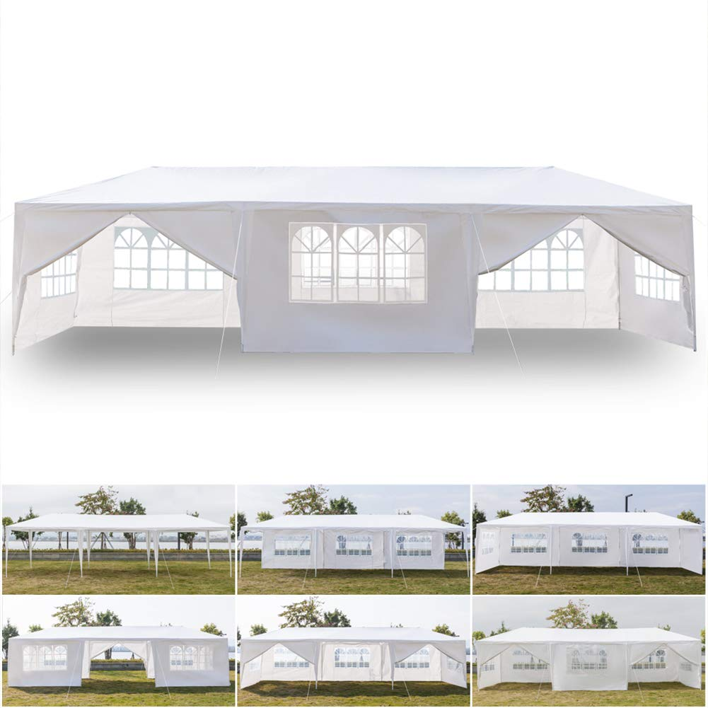 Ooscy Party Tent,Pop up Canopy Party Wedding Gazebo Tent Shelter with Removable Side Walls White by Ooscy (Image #1)