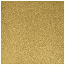Glitter Cardstock 12-Inch by 12-Inch, Gold, 15 Per Pack