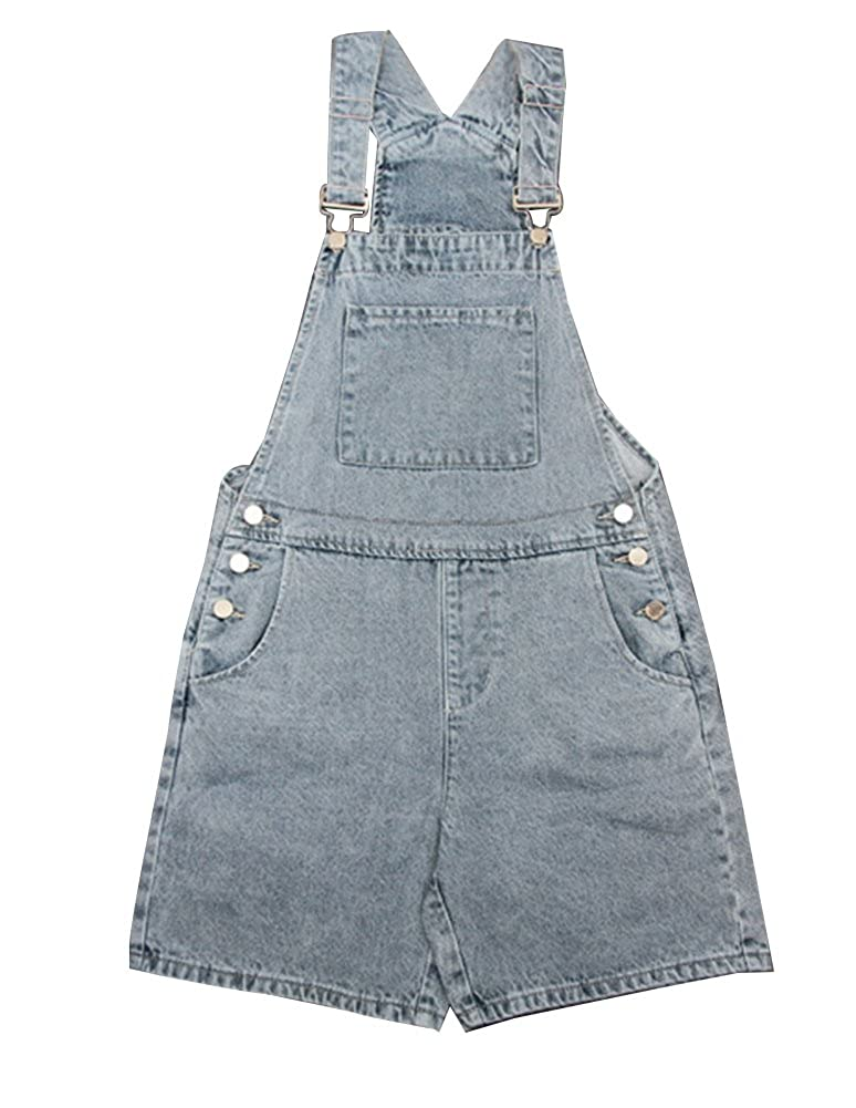 7f76f3fbeff8 Gladiolus Womens Ladies Stretch Dungaree Shorts Jumpsuit Plus Size Loose  Short Overalls Jeans Light Blue 4XL  Amazon.co.uk  Clothing