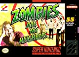 Zombies Ate My Neighbors (Super Nintendo, SNES) - Reproduction Game Cartridge w/ Replica Miniature Box and Glossy Manual