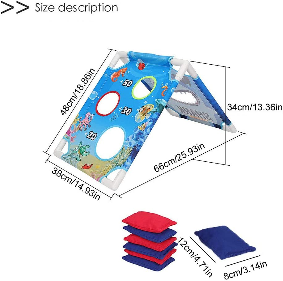 Includes 6 Bean Bags and Handbag Travel Case Game Rules Foldable iYBWZH Classic Cornhole Game Set Multicolor