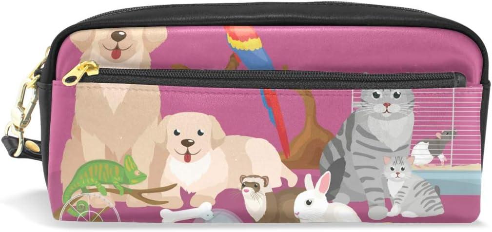 Estuche para lápices con cremallera, bolsa de maquillaje grande para el hogar, mascotas, 1 estuche para lápices para niños y niñas, suministros escolares: Amazon.es: Oficina y papelería