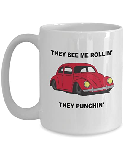 Punch Buggy Car >> Amazon Com Punch Buggy Car White Ceramic Novelty Coffee Mug 15oz