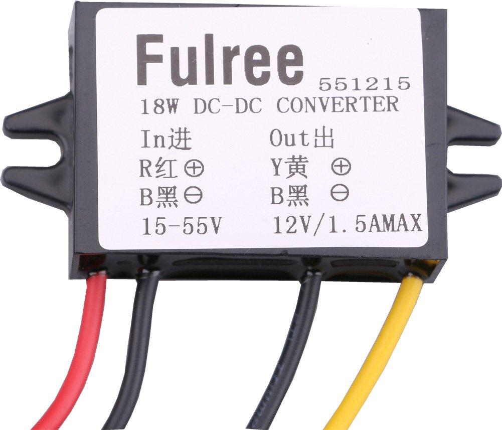 yeeco DC Corriente Continua De Richter regulador de voltaje de alimentació n DC 15 –  55 V hasta 12 V 1.5 A
