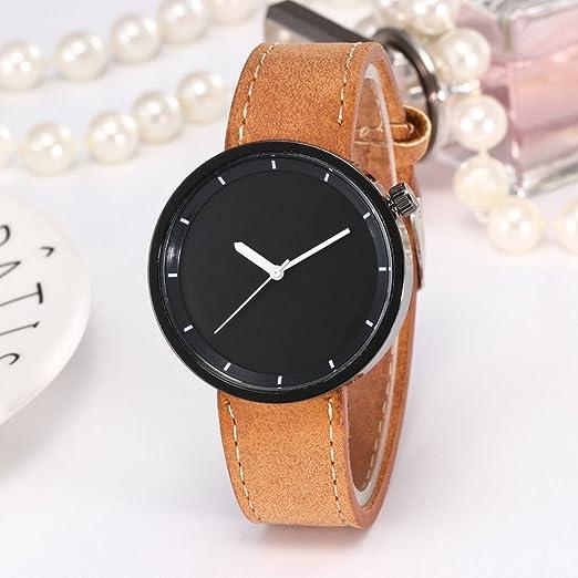 Kinlene Relojes baratos, elegante reloj de estudiante minimalista clásico (café)