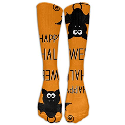 53966955675 MOMENTO Happy Halloween Unisex Casual Athletic Socks Knee High Running Long  Sock Outdoor Gift