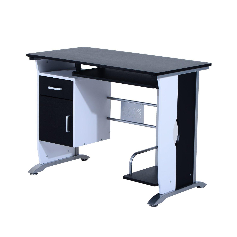 Homcom 2454140031 - mesa de escritorio para ordenador - mobiliario ...