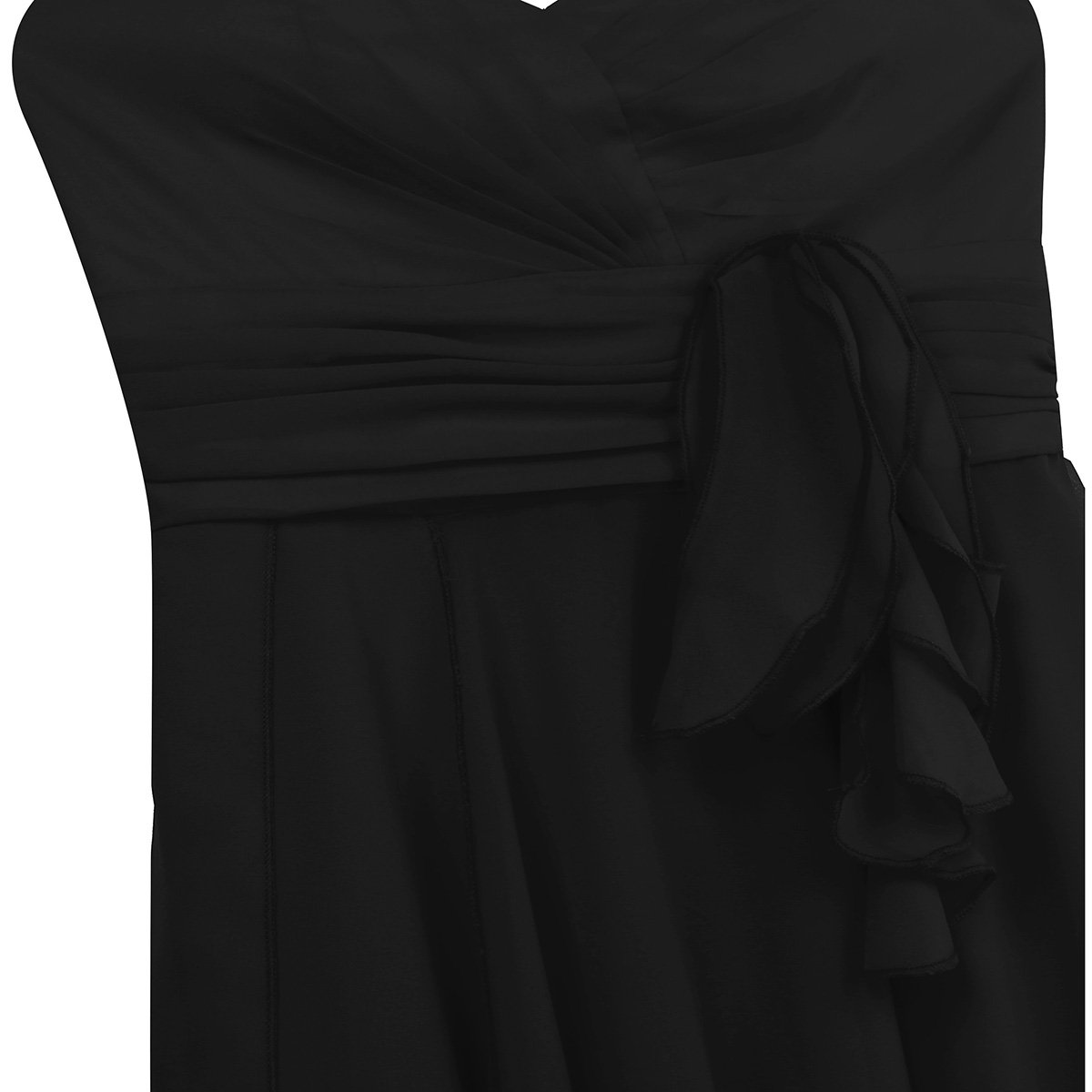 iiniim Womens Chiffon Sweetheart Strapless High-Low Pleated Bridesmaid Dress Party Evening Prom Gown