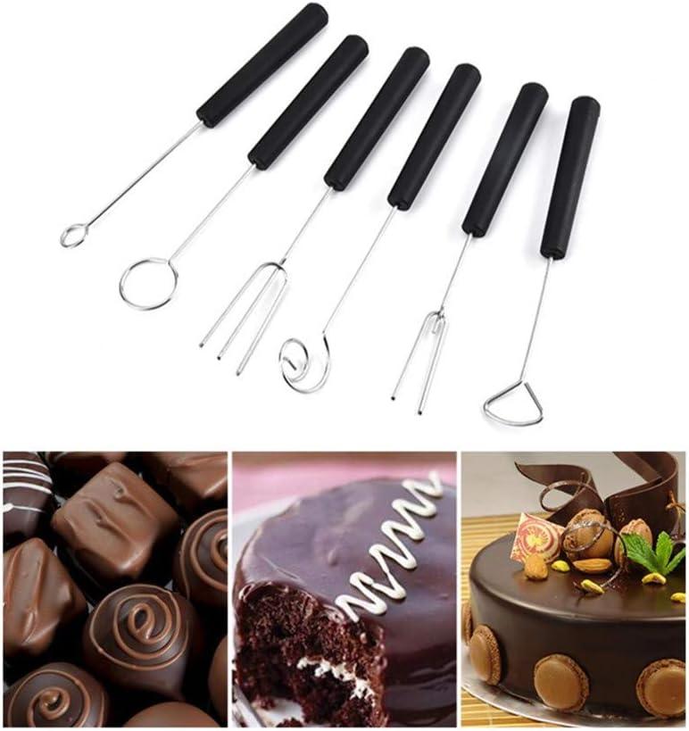 Fondue 6-teiliges Edelstahl-Tauchgabel-Set perfekt f/ür handgefertigte Schokolade K/äse