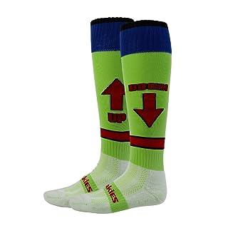 Freakies - Calze a strisce altezza ginocchio, ragazzo, verde (lime), Size 12-2