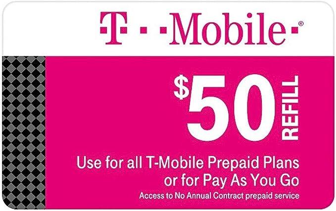 Amazon.com: T-mobile $50 Tarjeta de recambio prepago Mensual ...