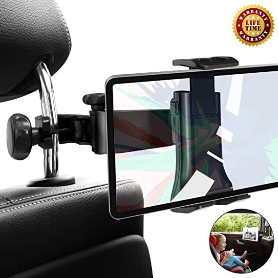 Peachy Car Headrest Mount Holder Tablephone Universal Adjustable Headrest Car Seat Mount Holder Compatible For Samsung Galaxy Tab S10 Plus S9 And Iphone Squirreltailoven Fun Painted Chair Ideas Images Squirreltailovenorg