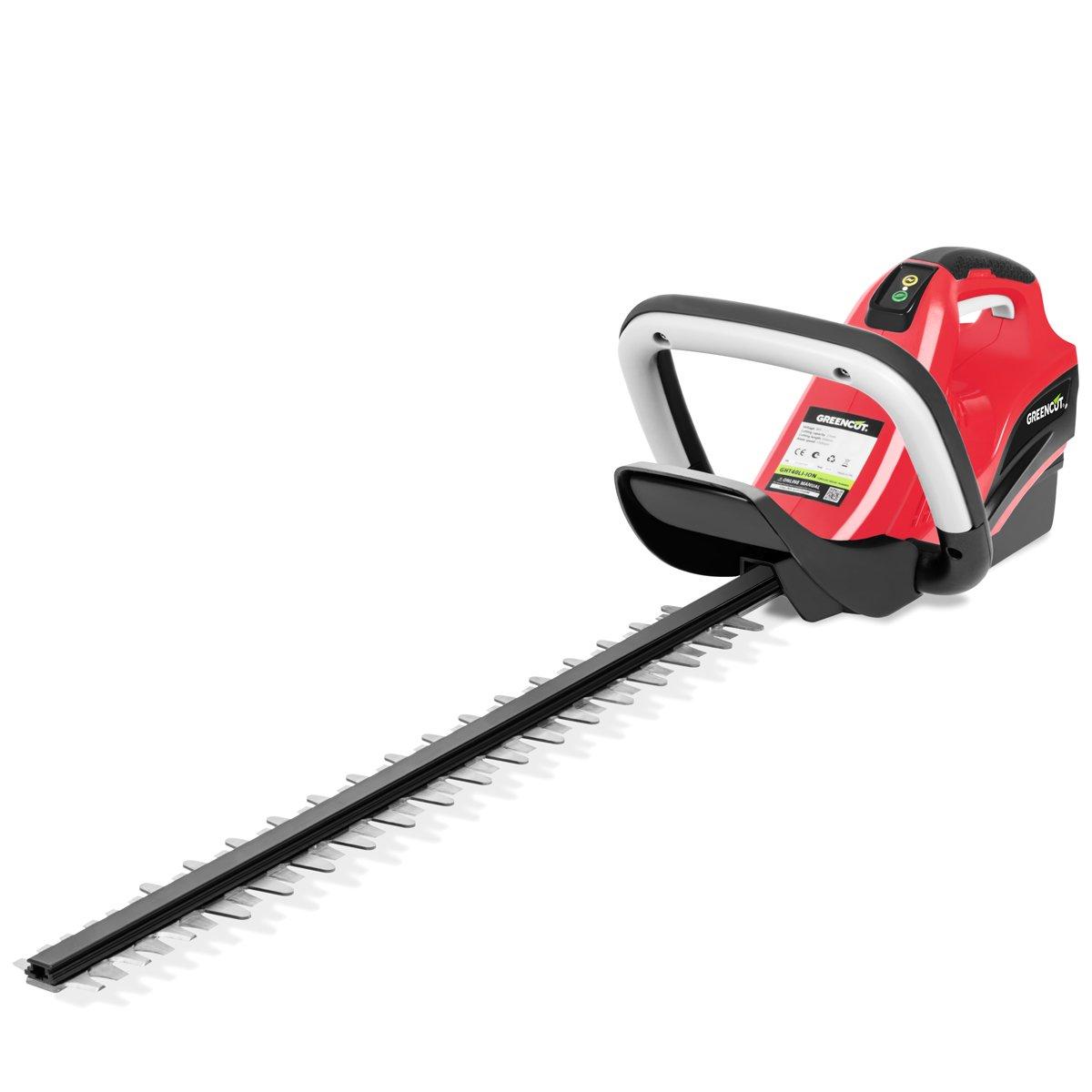 Greencut GHT40LI-ION - Cortasetos con batería de lítio de 40V, con cuchilla giratoria de 63cm y con mango ergonómico