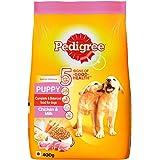 Pedigree Puppy Dry Dog Food, Chicken & Milk, 400g Pack