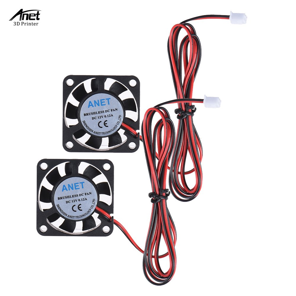 HICTOP DC 24V Connector Brushless Cooling Turbo Blower Fan 50x15mm Cooler 3D Printer Parts 2 Packs