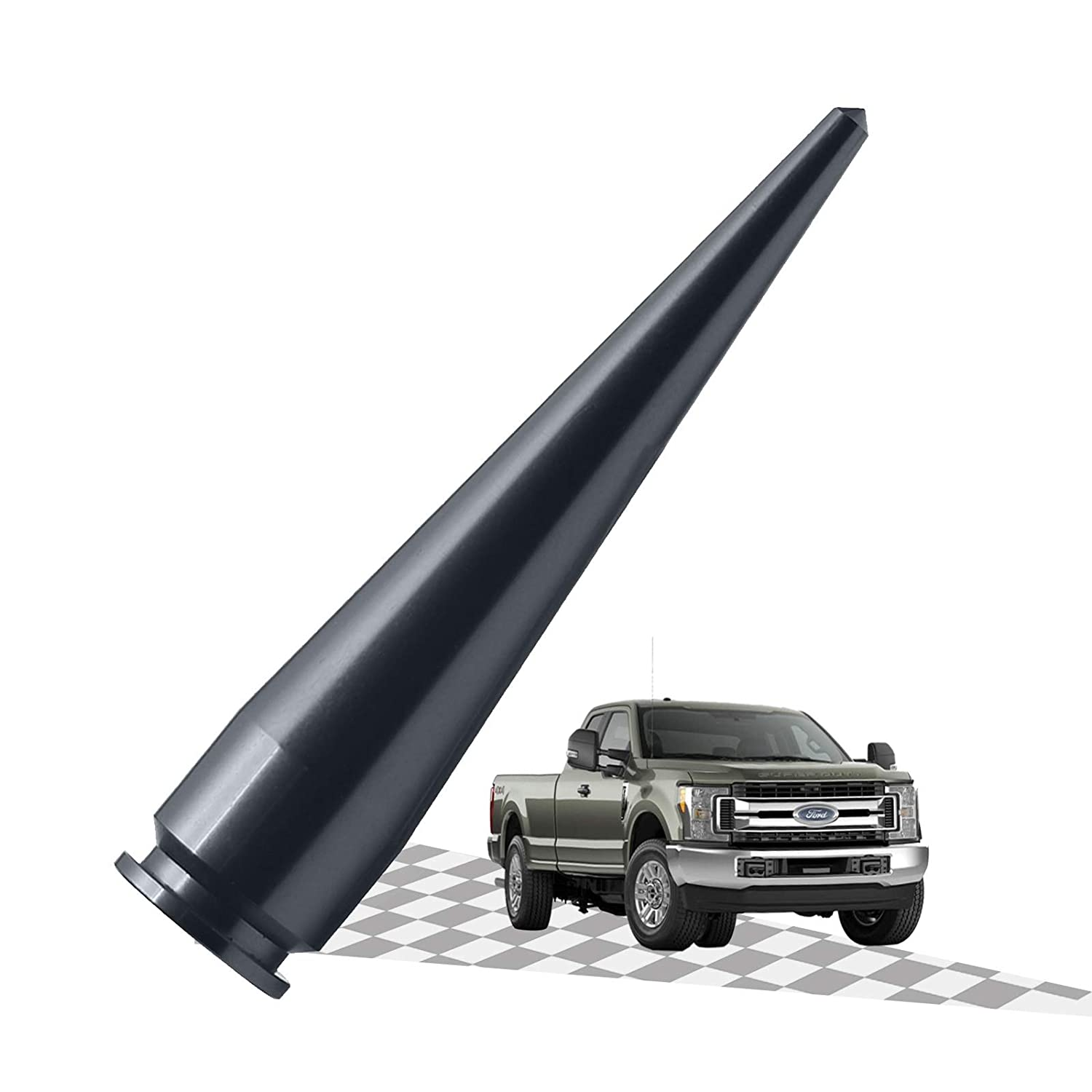 3 Inches Elitezip Antenna Compatible with Ford F-250 2009-2018 Optimized AM//FM Reception with Tough Material Carbon/ Black