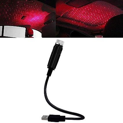 Proyector de luces para techo de coche, USB, flexible, romántico ...
