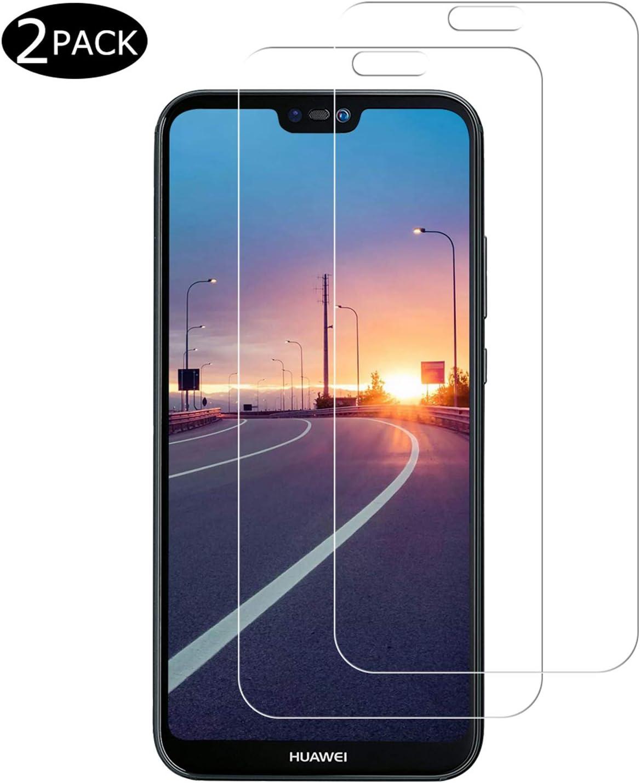 Miuphro [2-Pack Protector Pantalla para Huawei P20 Lite, Cristal Templado Huawei P20 Lite, Vidrio Templado con [2.5d Borde Redondo] [9H Dureza] [Alta Definicion]: Amazon.es: Electrónica